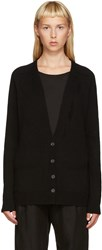 Raquel Allegra Black Deep V Cardigan