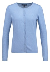 Gant Cardigan Light Blue Melange Mottled Light Grey