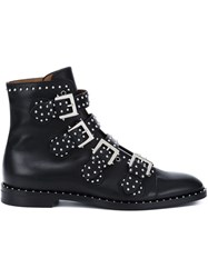 Givenchy Studded Ankle Boots Black