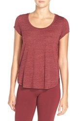Alo Yoga Women's Alo 'Camila' Short Sleeve Top Deep Plum