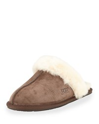 Ugg Scuffette Shearling Slide Slipper Espresso Brown Women's
