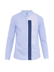 Richard Nicoll Striped Contrast Panel Cotton Shirt
