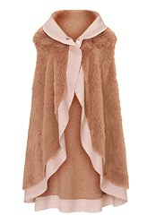 Betty Barclay Faux Fur Gilet Pink