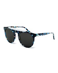 Smoke X Mirrors Atomic Rounded Square Sunglasses Blue White
