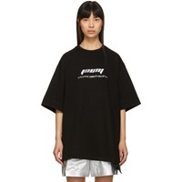 Juun.J Black Oversized Logo T Shirt