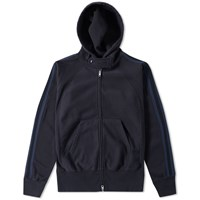 Engineered Garments Raglan Zip Hoody Blue
