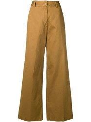 Danielapi Cropped Trousers Neutrals