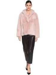 Blancha Sheep Fur Jacket Pink