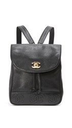 Wgaca What Goes Around Comes Around Chanel Caviar Cc Backpack Previously Owned Black