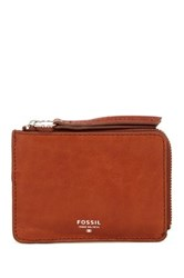 Fossil Sydney Zip Coin Leather Pouch Brown