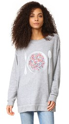 Wildfox Couture Disco Snack Sweatshirt Heather Burnout
