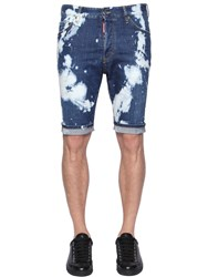Dsquared Bleached Wash Denim Shorts