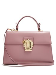Dolce And Gabbana Lucia Smooth Calf Leather Bag Light Pink