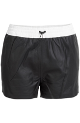 Alexander Wang Leather Athletic Shorts