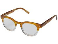 Eyebobs Waylaid Amber Crystal Reading Glasses Sunglasses Brown