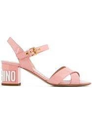Moschino Chunky Heel Sandals Pink