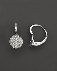 Kc Designs Diamond Disk Drop Earrings In 14K White Gold .22 Ct. T.W. White Gold White Diamonds