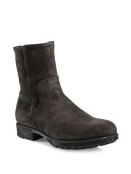 Aquatalia By Marvin K Suede Ankle Boots Dark Grey
