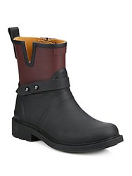 Rag And Bone Two Tone Cutout Boots Bordeaux