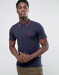 Selected Slim Fit Polo Shirt With Stretch Navy