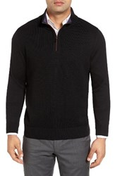 Thomas Dean Men's Merino Wool Quarter Zip Sweater