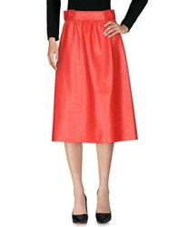 Atos Lombardini 3 4 Length Skirts Red