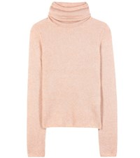 Acne Studios Dwyn Mohair And Wool Blend Turtleneck Sweater Pink
