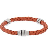 Ted Baker Thick Leather Bracelet Orange