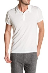 Save Khaki Short Sleeve Jersey Polo White