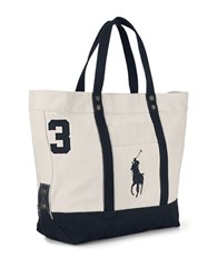 Polo Ralph Lauren Big Pony Canvas Tote Natural