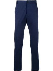 Versace Straight Leg Chinos Blue