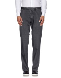 Santaniello And B. Trousers Casual Trousers Men Steel Grey