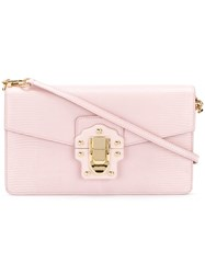 Dolce And Gabbana 'Lucia' Shoulder Bag Women Calf Leather One Size Pink Purple