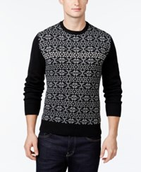 Weatherproof Snowflake Sweater Black