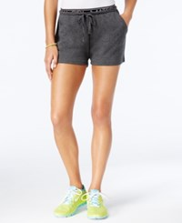 Material Girl Active Juniors' Graphic Shorts Only At Macy's Heather Charcoal