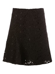 Giambattista Valli Lace Pleated Skirt Black