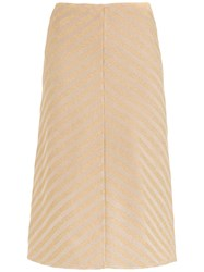 Spacenk Nk Striped A Line Skirt Nude And Neutrals