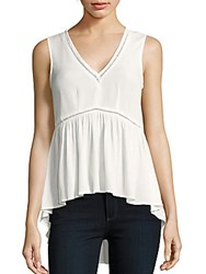 1.State Sleeveless V Neck Top Cloud