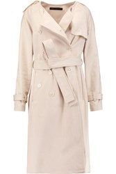 Marc By Marc Jacobs Belted Cotton Blend Twill Trench Coat Cream