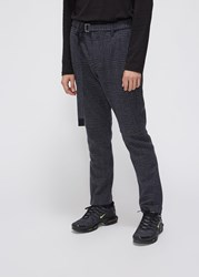 Sacai 'S Glencheck Pants In Navy Grey Black Size 2 Wool Cupro Lining Navy Grey Black