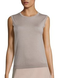 Piazza Sempione Sleeveless Cashmere Pullover Beige Taupe