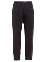 Mhl By Margaret Howell Elasticated Cotton Twill Trousers Blue