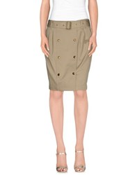 Burberry Brit Skirts Knee Length Skirts Women Khaki