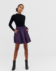 Minimum Moves By A Line Skirt Purple Potion