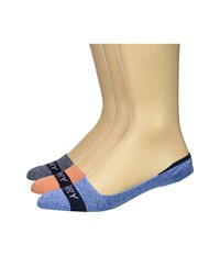 Sperry Solid Marl Signature Invisible Liner Blue White Marl Assorted No Show Socks Shoes