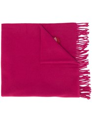 Dsquared2 Maple Leaf Patch Scarf Pink