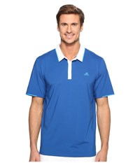 Adidas Climacool Branded Performance Polo Eqt Blue White Men's Short Sleeve Pullover