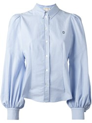 Marc Jacobs Chest Logo Embroidered Shirt Blue