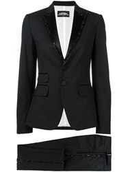 Dsquared2 Bead Embroidered Suit Black