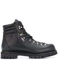Gucci Web Bee Hiking Boots Calf Leather Leather Rubber Black
